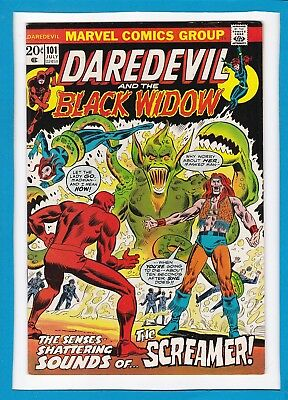 DAREDEVIL AND THE BLACK WIDOW #101_JULY 1973_VF+_1st FULL APP THE SCREAMER!