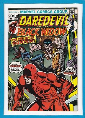 Daredevil And The Black Widow #104_October 1973_Very Fine_Kraven The Hunter!