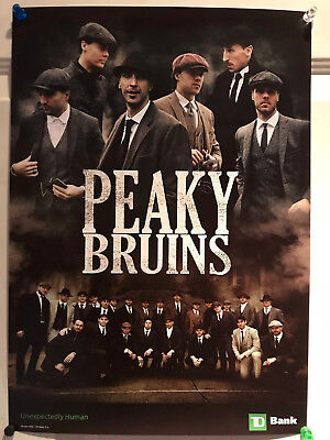 Peaky Blinders themed Boston Bruins team Poster - NHL Bruins from Winter Classic