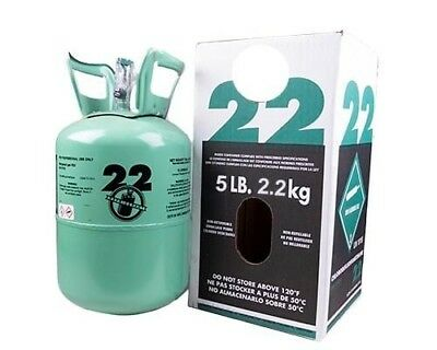 New R-22 Virgin Refrigerant FACTORY SEALED 5 LBS. FREE SAME DAY Shipping!