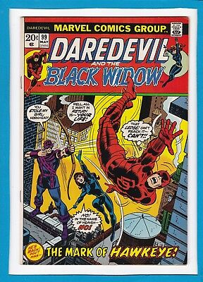 Daredevil And The Black Widow #99_May 1973_Very Fine_Hawkeye_Bronze Age Marvel!