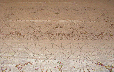 Vintage Lace Tablecloth White Lace Tablecloth Flowers In Lace Tablecloth