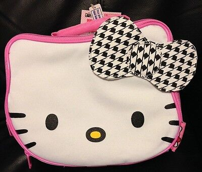 New Sanrio Hello Kitty face insulated lunch bag tote ages 3+ school supply gift