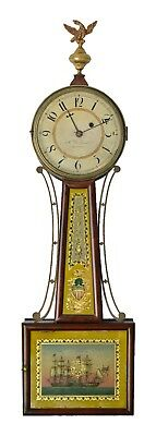 FINE Antique 1815-1820 Patent Timepiece Banjo Clock SIGNED Aaron Willard WORKING