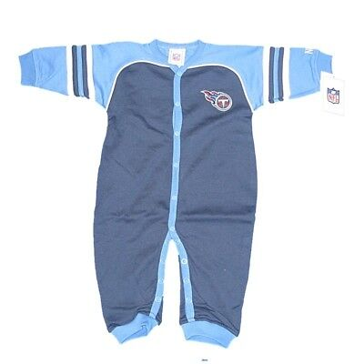 NEW NFL Infant Tennessee Titans Boys Baby One Piece Sleeper 0-18 Months
