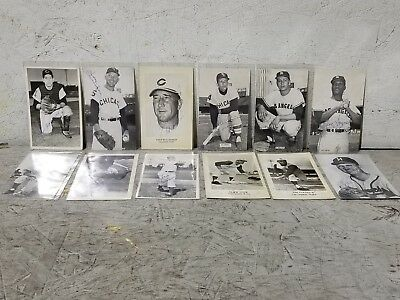 Vintage lot of (12) MLB 3 X 5 Photo Post Cards