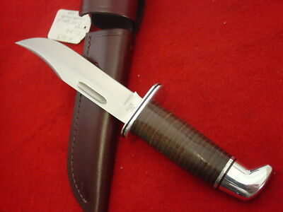 """Buck Made in USA 10-1/2"""" 119 Special Edition Fixed Blade Leather Sheath Knife"""