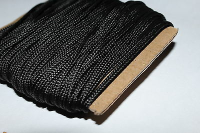 30 Metres BLACK Nylon Braided Cord Thread Twine 2mm  .best buy //
