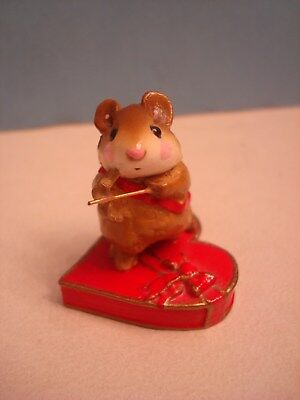 Wee Forest Folk William Petersen 1983 CUPID MOUSE on RED CANDY BOX! Valentine