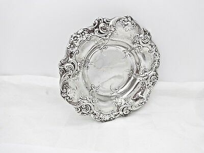 """Gorham 816 Sterling Silver Floral Repousse Candy Bowl,5.5"""",no Mono,nice"""