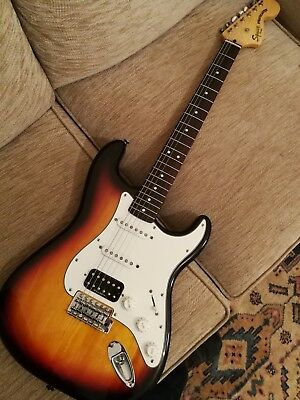 Fender Squier Stratocaster Vintage Modified HSS Electric Guitar 3 Tone Sunburst