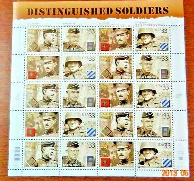 Scott #3396a Distinguished Soldiers Mint Sheet  ( Face Value $6.60 )