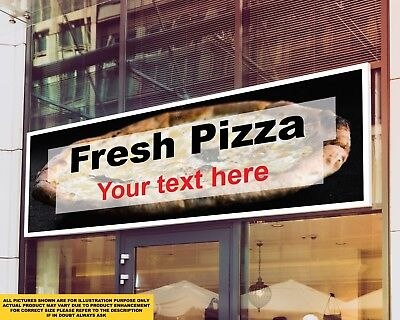 Fresh Pizza Custom Text Food Take Aw Signage Colour Sign Printed Heavy Duty 4193