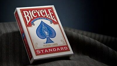 1 x Bicycle Poker Size Standard Index - Red, USPCC playing cards deck