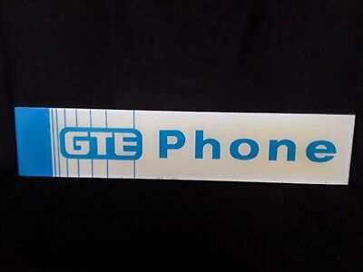 Vintage Gte Phone Booth Signage Advertisement Original Likely 1970-1980's