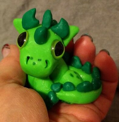 Dragon OOAK Cutie Critter Handmade Clay Sculpture