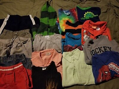 Lot Of Size 5 Boys Clothes. Pants, Shirts, Shorts. Some items never worn.