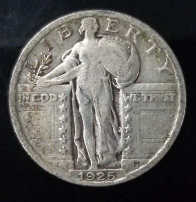 1925 Standing Liberty Quarter - 90% Silver - US Coins [SC6693]