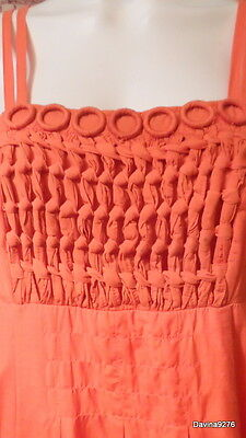 stunning Next orange strappy circle front dress 10