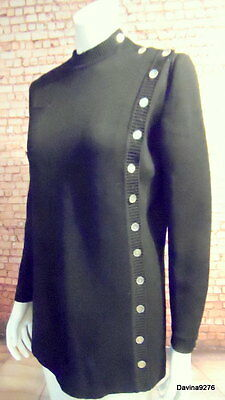 quality vintage black side button military long sleeve jumper 14 Kaimina