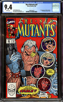 New Mutants 87 CGC 9.4 NM 1st Cable