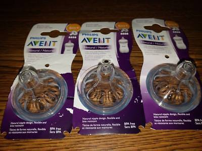 Philips Avent Natural Nipple Fast Flow (6 Months +) - 3 Pcs.
