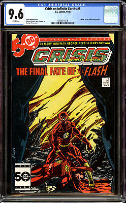 Crisis on Infinite Earths 8 CGC 9.6 NM+ Death of Flash (Barry Allen)