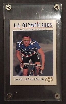 1992 Impel US Olympicards 31 Lance Armstrong Team USA Olympic Hopefuls Card