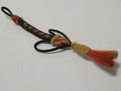 Antique Western Cowboy Hitched Horsehair Fob / Drop - Three Colors - Nice !