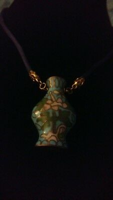 small necklace vintage chinese cloisonne bottle?