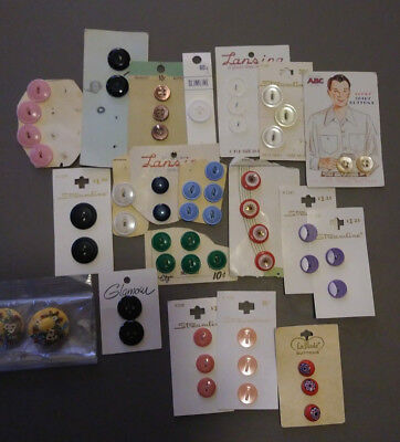 Lot of Misc Buttons on Orig. Cards As Found Old Vintage Sewing Crafts