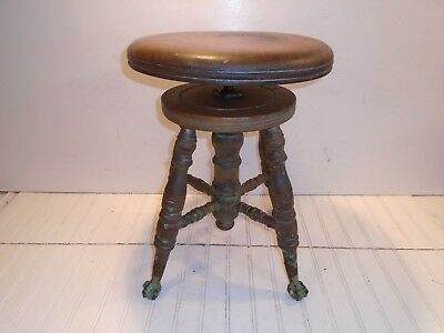 Vintage Piano Stool Late 1800s Antique - The Chas. Parker Co.