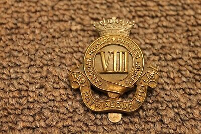 Canadian Hussars Princess Louise's Viii Cap Badge Ww2 Vintage Original