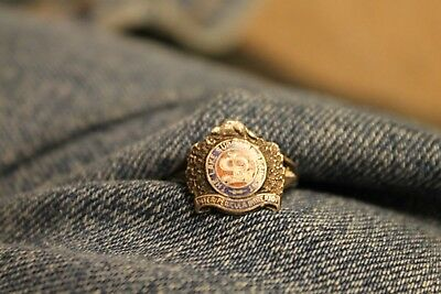 The Lake Superior Regiment Silver Ring Small Size Ww2 Vintage Original