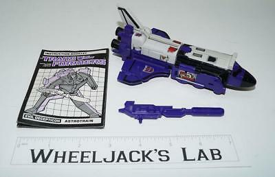 Astrotrain ~ 100% Complete 1985 Hasbro G1 Transformers Action Figure W BOOK