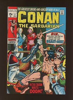 Conan the Barbarian 2 VF 8.0 * 1 Book Lot * Barry Windsor-Smith! 2nd Conan App!