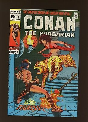 Conan the Barbarian 5 VF 7.5 * 1 Book Lot * Roy Thomas & Barry Windsor-Smith!