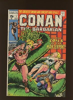 Conan the Barbarian 7 VF+ 8.5 * 1 Book Lot * Roy Thomas & Barry Windsor-Smith!
