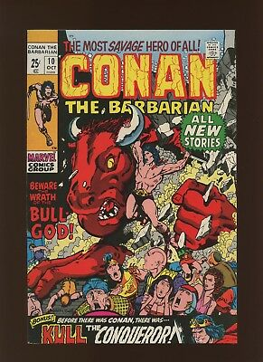 Conan the Barbarian 10 FN/VF 7.0 * 1 Book Lot * Roy Thomas & Barry Windsor-Smith