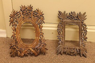 Two Pressed Wood Picture Frame Ww1 Vintage
