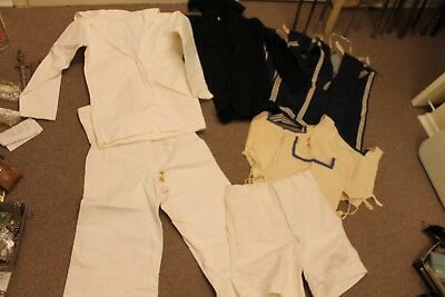 Canadian Ww2 Navy Seaman Uniform, Tunic, Summer Wear, Shorts And Dicky's