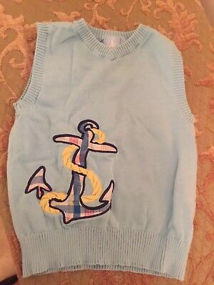 JK Anchor Vest Blue Boy's 4T