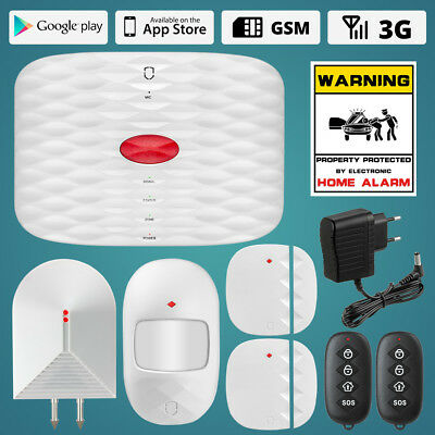 Wolf-Guard GSM automatically dial voice warning 3G Alarm Security Detector Kit