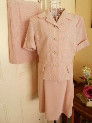 Retro Style Three  Piece Outfit Dress Jacket & Skirt  By Marcoule
