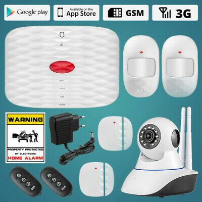 Wolf-Guard Remote control 3G GSM alarm systems security home PIR IP HD Camera