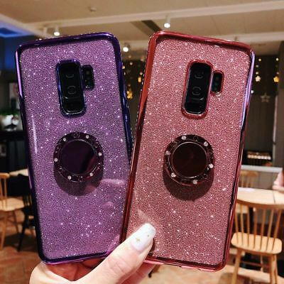 For Samsung Galaxy S9 Plus S8 S7 Luxury Glitter Bling TPU Back Phone Case Cover