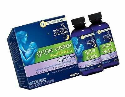 Mommy's Bliss Night Time Gripe Water for Baby's Tummy Trouble - Relieves Occa...