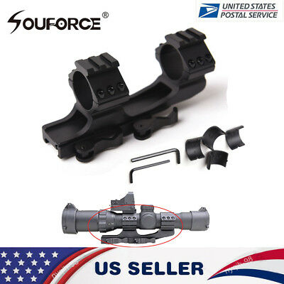 "US Tactical Quick Release 1"" 30mm Ring 20mm Picatinny Rail QD Scope Mount Rifle"