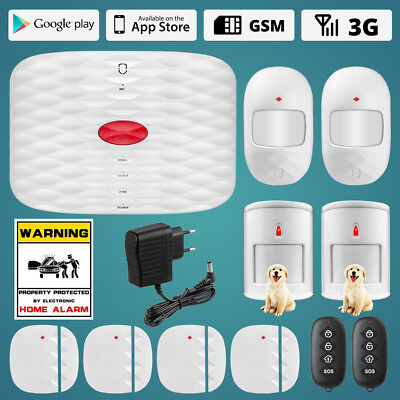 Wolf-Guard LED 3G Built-in 500mA Battery GSM Alarm system DIY Anti pet infrared