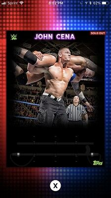 Topps WWE Slam John Cena Sunday Showcase Digital Insert Card 2018